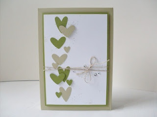 Card with cute hearts - from Carolas Bastelstübchen