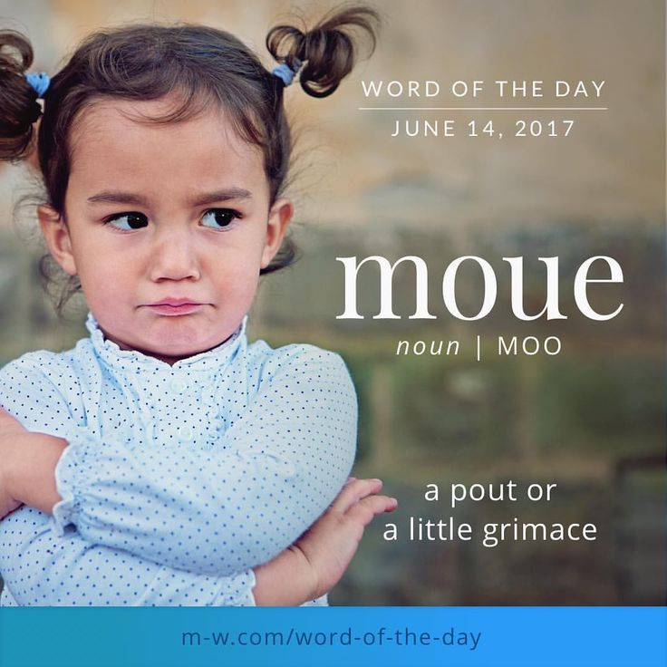 """650 Likes, 14 Comments - Merriam-Webster (@merriamwebster) on Instagram: """"The #wordoftheday is moue. #merriamwebster #dictionary #language"""""""