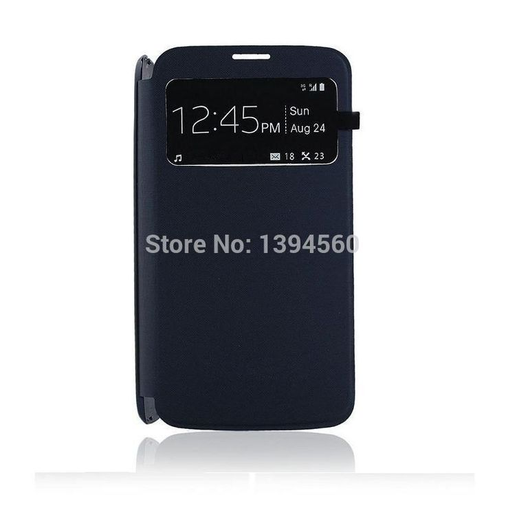 Original View Open Window Flip PU Leather Back Cover Battery Case for Samsung Galaxy S4 i9500 Mobile Phone Cases