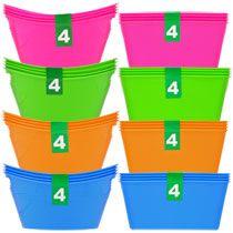 Bulk Mini Plastic Storage Containers, 4-ct. Packs at DollarTree.com