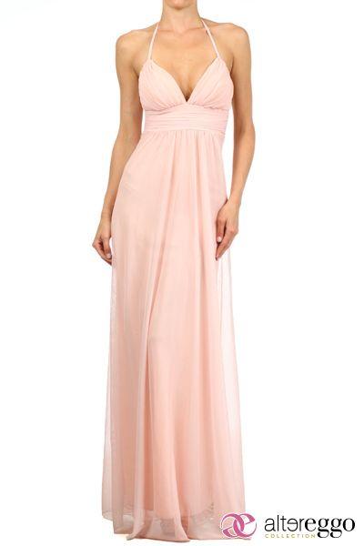 #Vestido #graduaciones #verano #2014 #pink #rosa #palo #party #fiesta #noche #largo #maxidress #dress #nigth #escote #v #sexy