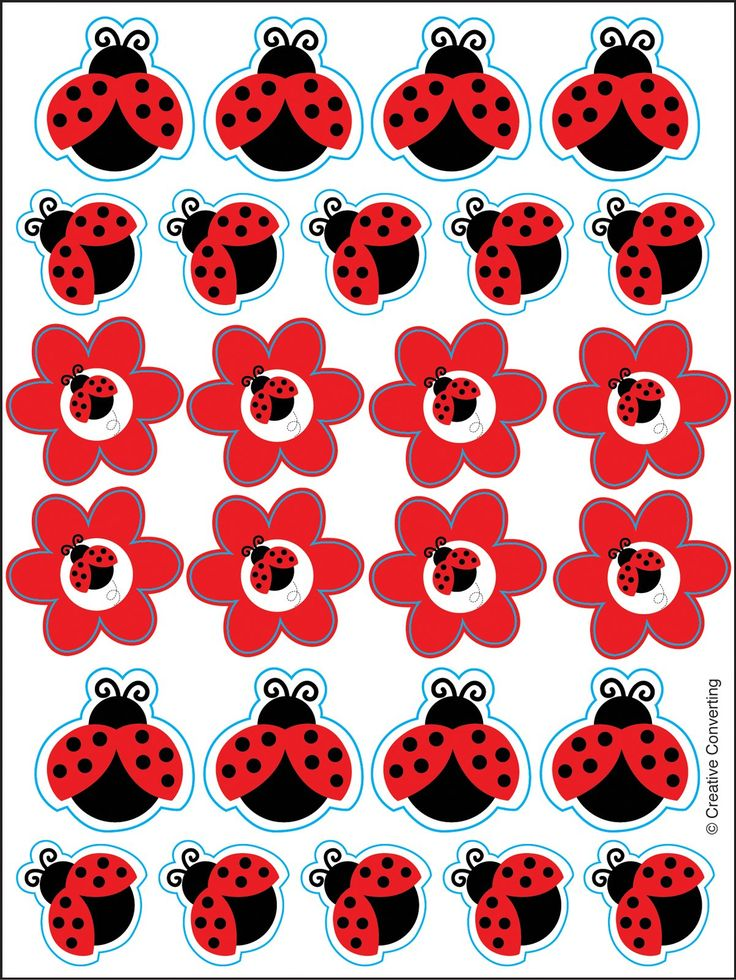 LadyBug Fancy Sticker Sheets (4) : Fancy Sticker sheets have 26 ladybugs on each sheet. Price is for 4 sticker sheets.