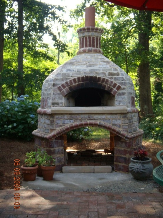 Outdoor Brick Pizza Oven Outside Living Garden Dining Porches Pinterest And
