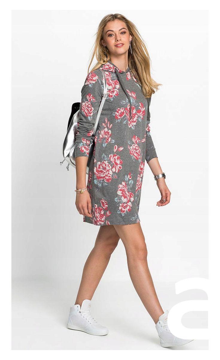 Sukienka Casual Ciekawa Stylizacja Moda Damska Sukienka Mini Sukienka Kwiaty Dluga Bluza Casual Dress Fashion Cold Shoulder Dress