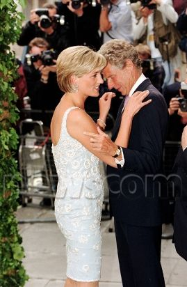 June 2, 1997: Diana, Princess of Wales attends Christie's private viewing of her dresses for auction in London.
