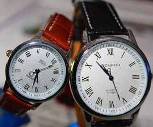 Fashion Hours Quartz Watch Leather Watches Casual Clocks Lady Wristwatches Women Dress Wrist New Couple Watch CN0467 2-inWristwatches from W...