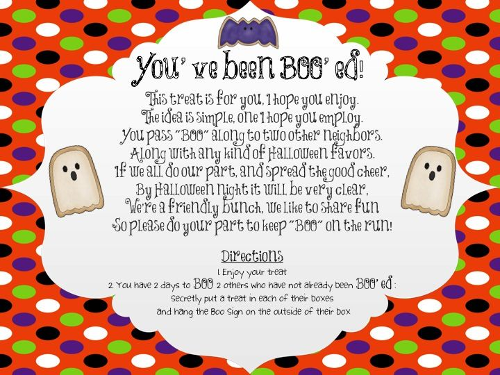 boo grams youve been booed great activity to get the - Halloween Fundraiser Ideas