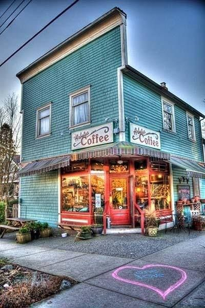 just a pretty coffee shop in #Vancouver <3
