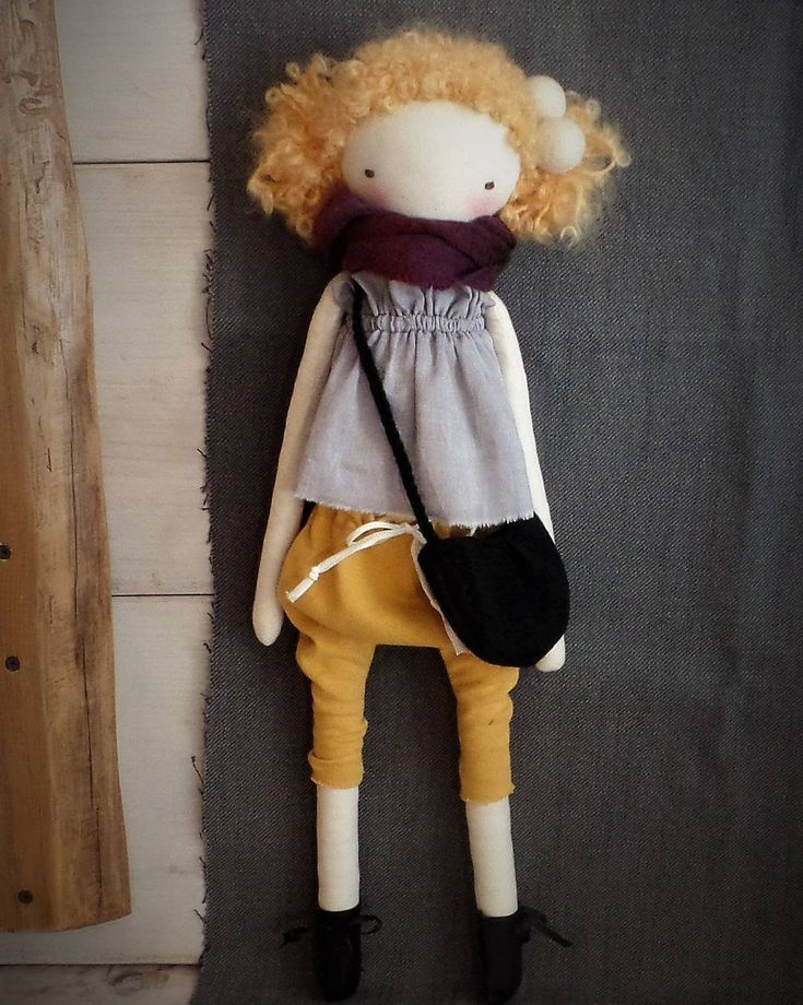 Just finished with this teenager girl doll :) #clothdolls #fabricdoll