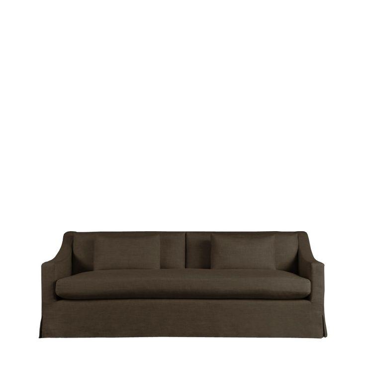 Horley диван (213 х99х80 см)             Метки: Маленькие диваны.              Материал: Ткань.              Бренд: Gramercy Home.              Стили: Скандинавский и минимализм.              Цвета: Темно-коричневый.