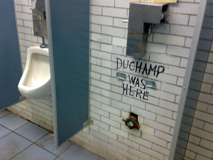Clever Street Art: Duchamp was here