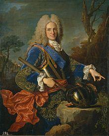 Portrait de Philippe V d'Espagne par Jean Ranc.Madrid, Musée du Prado.
