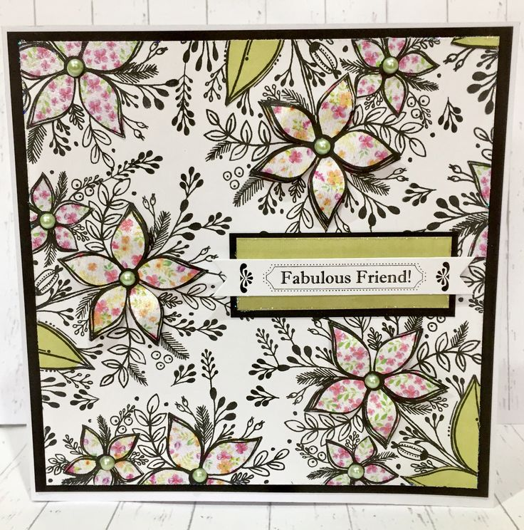 Card created by Sue Morgan using Craftwork Cards Julie Loves Wildflowers Collection.