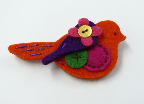 Пролетни птички от филц