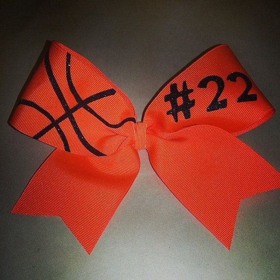 Basketball Bow via Etsy. I'm so getting one of these! My mom needs to make me this @b R O O K E // W I L L I A M S Allred-Phillips