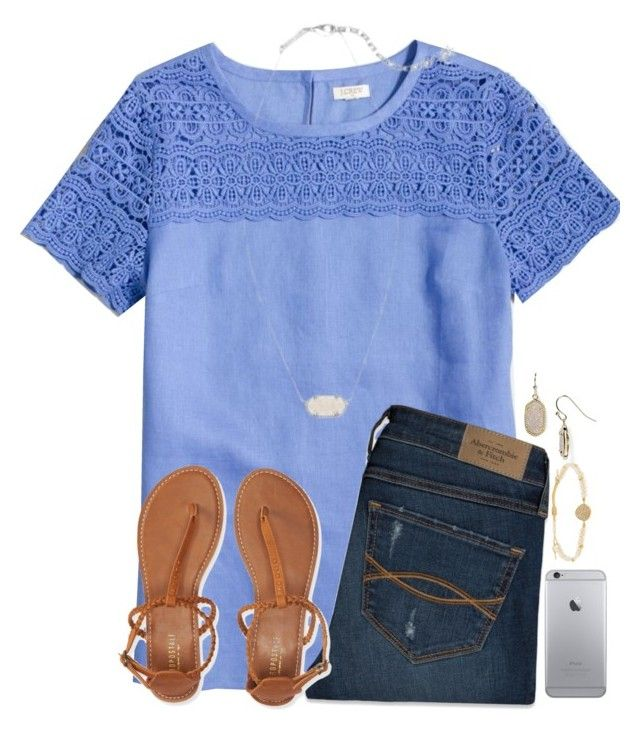 liked on Polyvore featuring J.Crew, Abercrombie & Fitch, Aéropostale, Kendra Scott and Tai