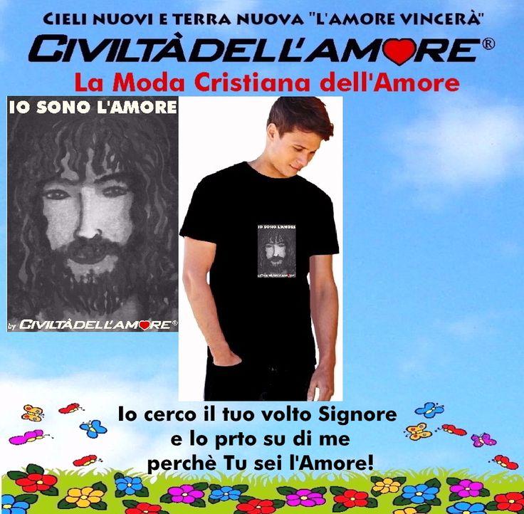 """Chi non si vergogna di Gesù e ama """"osare"""" può indossare coraggiosamente questa t-shirt! Per questo modello segui la guida all'acquisto: http://www.civiltadellamore.net/guida-allacquisto/"""