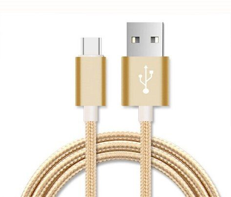 ONX3 Gold Premium Quality 1 Meter Micro USB Cable Nylon Braided With High Speed Charging and Data Transfer for Asus PadFone X mini ** You can find more details by visiting the image link.