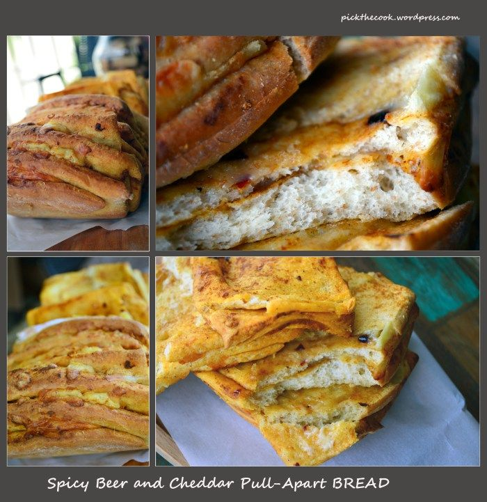 Spicy beer and cheddar pull-apart bread | Beer, Cheddar and Spicy