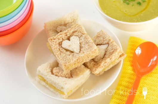 Heart Sandwiches - for the little loves! x