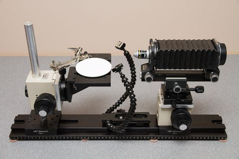 Macro rig based on Newport rails and rail carriers by Rylee Isitt