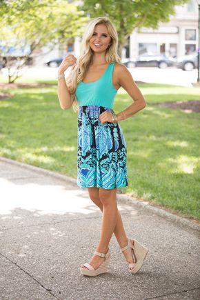 Bombshell Beauty Aqua Mini Dress