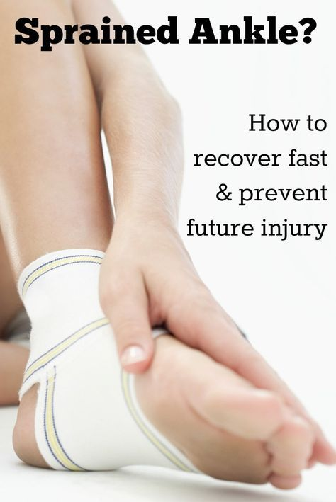 how to look after a sprained ankle