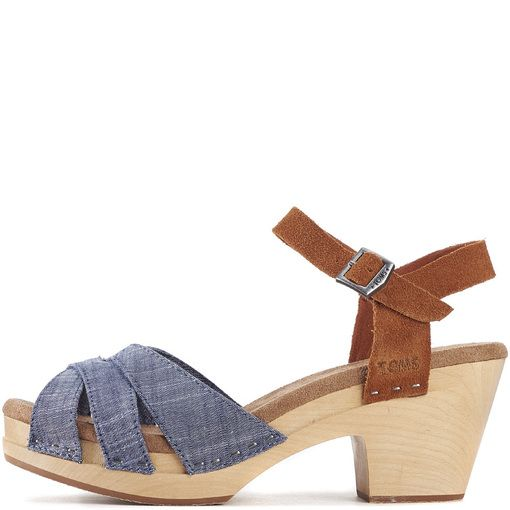Toms for Women Beatrix Chambray Clog
