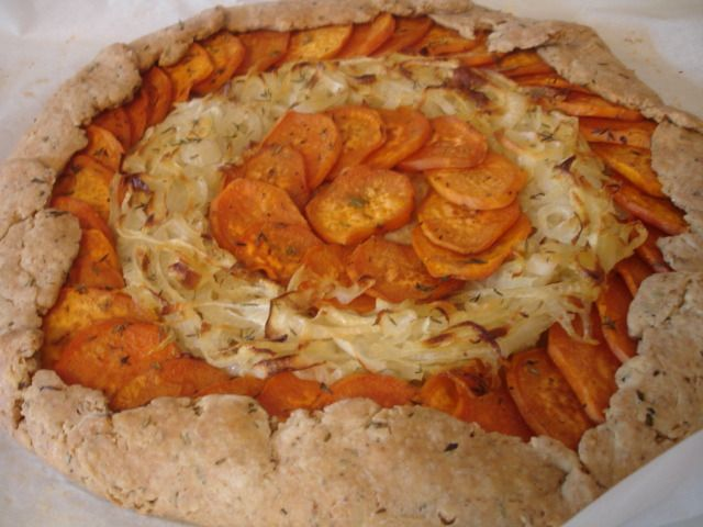 Ahhh, weekend fare. This is a Sweet Potato Red Onion Galette. Before I sing it's praises, there are three things to note: 1. In this picture, this one has white onions - I was out of red - and it...
