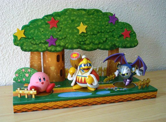An expanded version of the previous Dream Land 64 display Ive made, but now able to handle all 3 Kirby amiibo !  This diorama is inspired from the