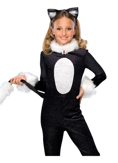 girls black white bratz cat kids animal halloween costume i think this is one i could actually make on my own yay kids clothes pinterest animal - Cat Outfit For Halloween