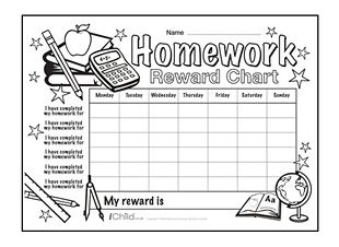 Rewards chart, Homework and Charts on Pinterest