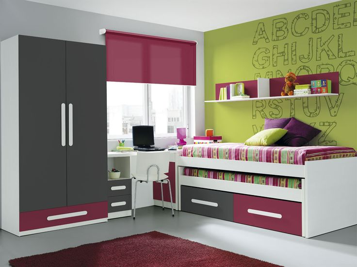 42 best cuando los peque os crecen su habitaci n cambia for Dormitorios juveniles hipopotamo