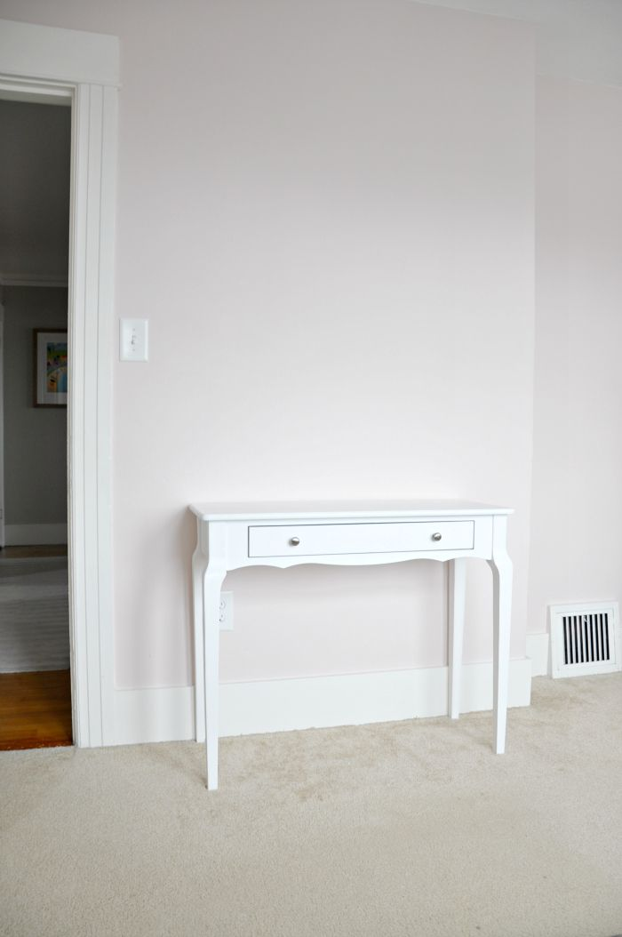 Pale Pink Wallpaper For Girl Nursery Console Table Into Desk Benjamin Moore S Wild Aster