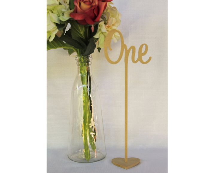 Set of 10 Freestanding wedding wooden table numbers with base/sticks by Ozwoodletters on Etsy