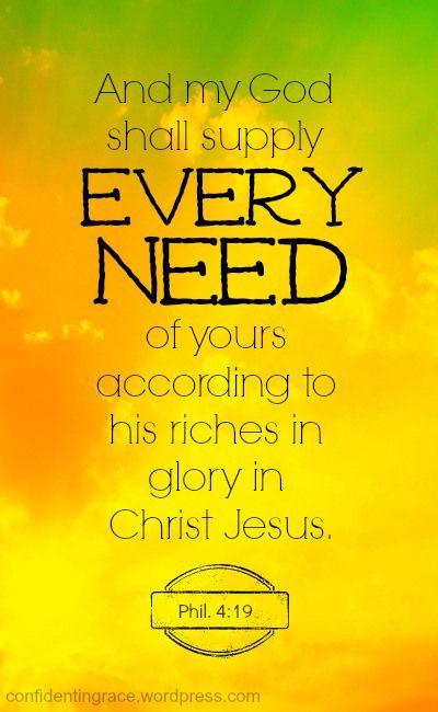 God shall supply