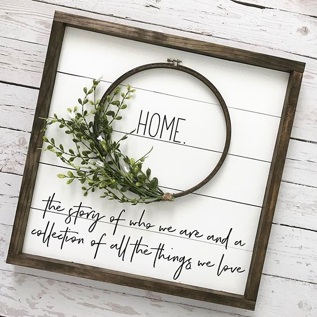 So many of my favorite things are combined into this sign, and it continues to be a favorite of mine (and yours as well judging by the orders)! Home is such a special, sacred place for me. It's where I work, raise my babies, dream about life, and make so many amazing memories. I've always strived to make it a comfortable, beautiful place for my family, which is why interior decorating is such a huge passion/hobby of mine.  I want my home to be a place where friends meet, family gathers,...