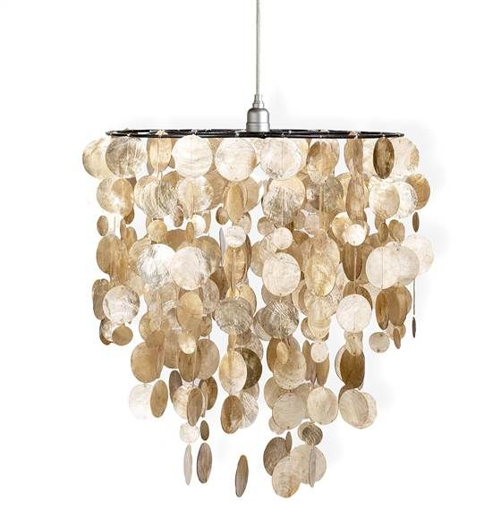 World Market: capiz shell chandelier