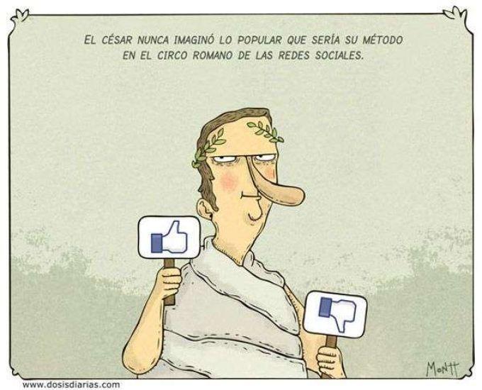 El césar precursor de las redes sociales. Más en http://www.lasfotosmasgraciosas.com