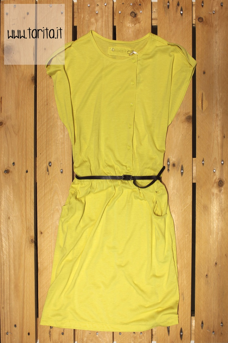 Tarita S/S 2013. Sessùn, yellow viscose dress with belt.