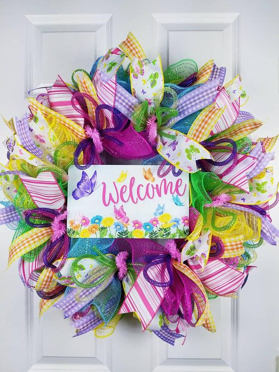 Check out this item in my Etsy shop https://www.etsy.com/listing/583468022/spring-wreaths-for-front-door-spring