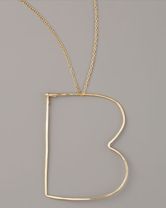 Letter-Pendant Necklaces