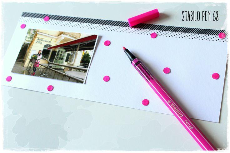 Vyrobte si efektní puntíkatý background s fixou Stabilo Pen 68
