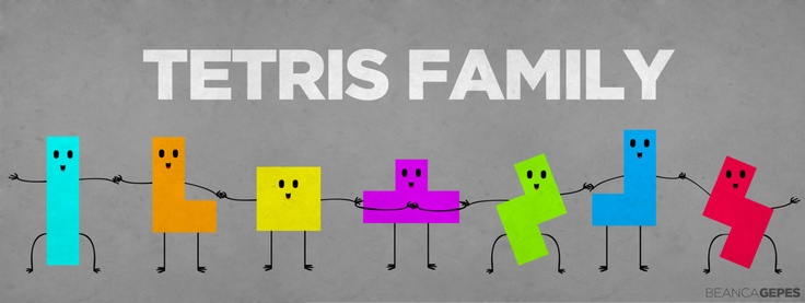 """Familia Tetris""  Oh man, I've been addicted to Tetris Battle for about a month now! I've been having Tetris Effects (quote and quote) everytime I stare at something or someone. Blocks clearing up, dropping down. Gah.   Tetris is a life-changing game. Indeed."