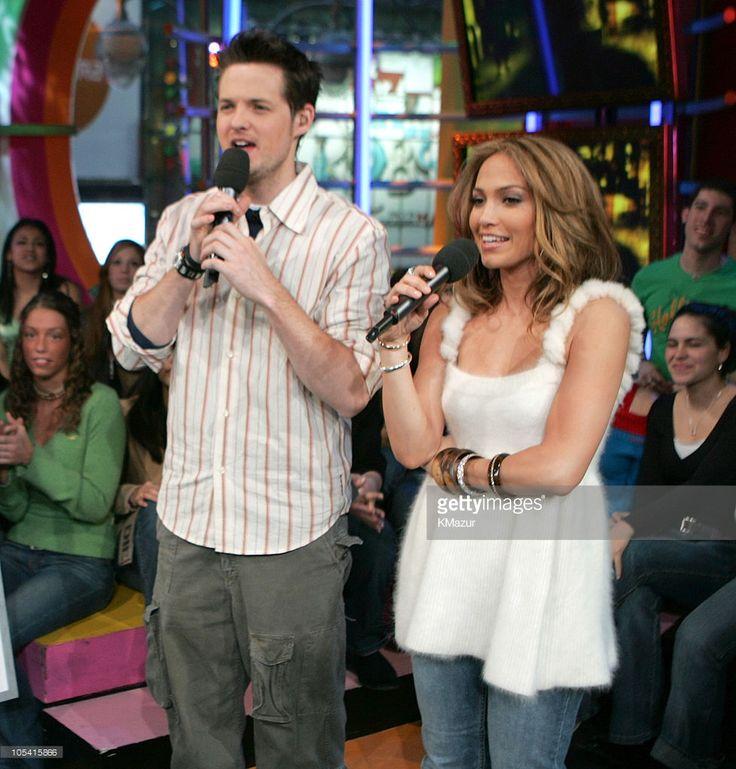 Jennifer Lopez during Jennifer Lopez Visits MTV's 'TRL' - March 1, 2005 at MTV Studios, Times Square in New York City, New York, United States.