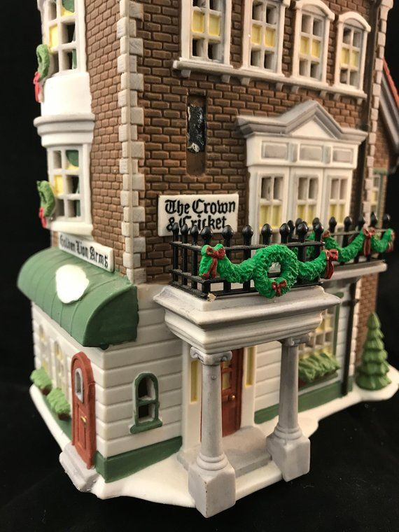 Department 56 Crown Cricket Inn 1st Edition 1992 57509 Etsy Brick And Stone Decorative Trim Dickens Village