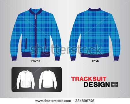 blue plaid tracksuit design vector illustration