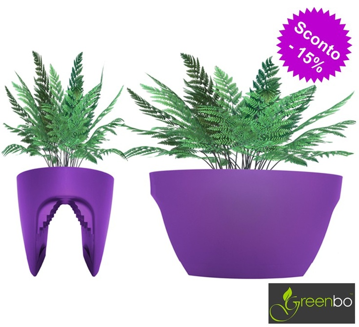 Vasi greenbo - Greenbo rail planter XL -purple