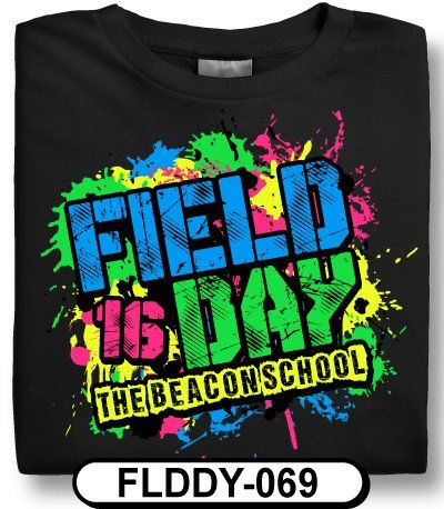 school spirit kids love the spattered look of this field day t shirt design that really fits