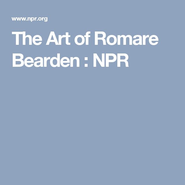 The Art of Romare Bearden : NPR